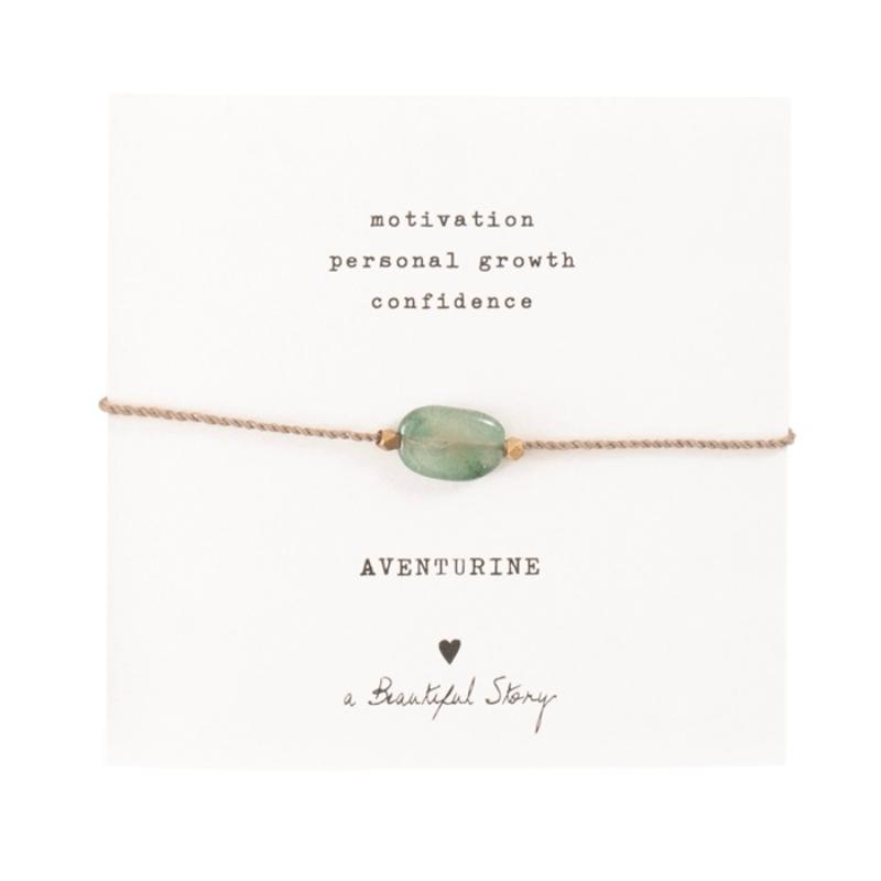 A Beautiful Story - Gemstone armbånd - Aventurin