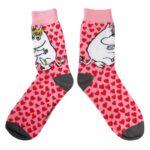 Mumi sokker med print - Hjerter