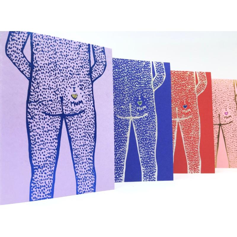 ARK Colour Design - Nudity Kort - Love Mum