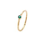 Pico - Violet Crystal ring - grøn