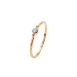 Pico - Violet Crystal ring - lyseblå