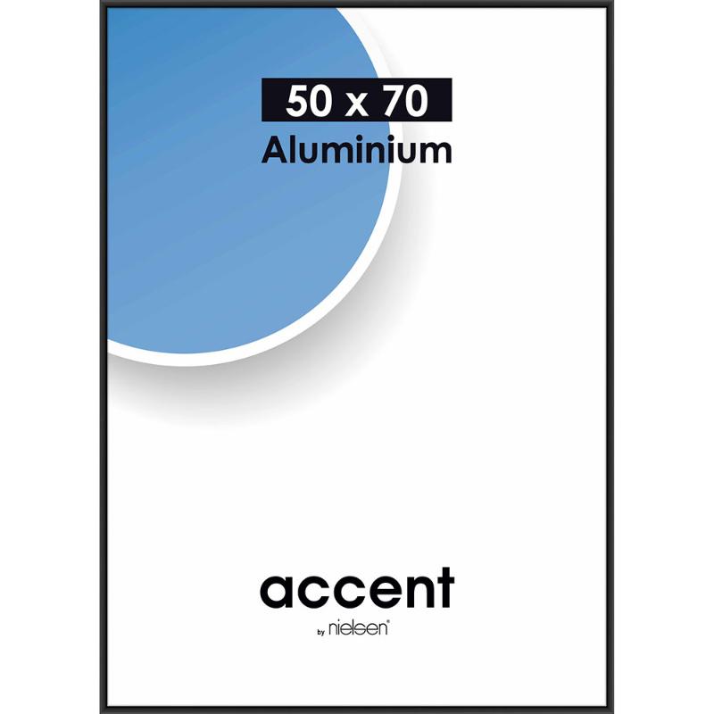 Accent - Sort Aluminium skifteramme - 50*70 cm