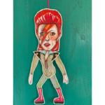 Sprællemand i karton - David Bowie Stardust