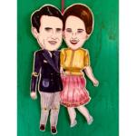 Sprællemand i karton - Dr. Margrethe & Pr. Henrik